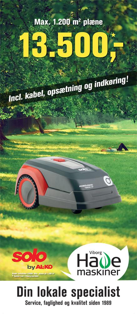 Robolinho opsætning Viborg havemaskiner 1200W