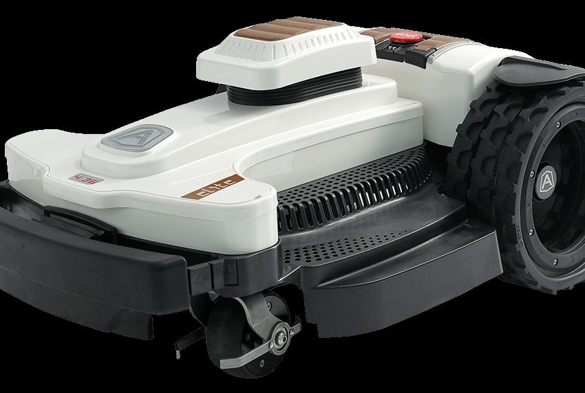 Ambrogio 4.36 Elite, En side visning af robot modellen, fra Ambrogio robot Italy