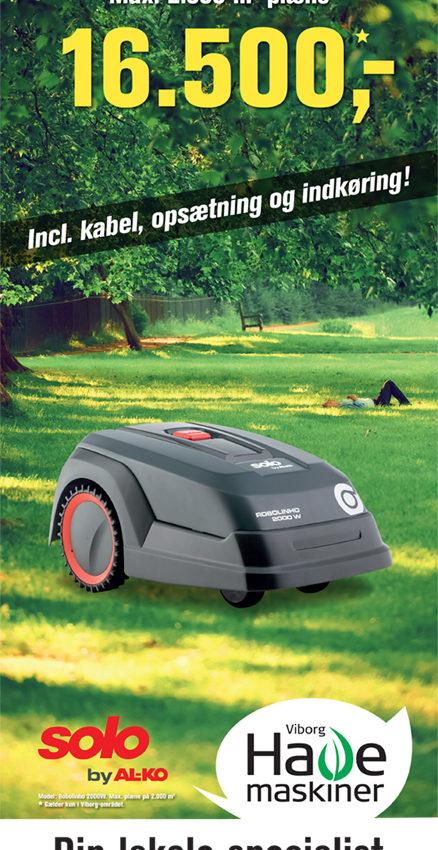 Robolinho opsætning Viborg havemaskiner 2000W